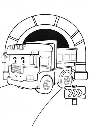Самосвал Дампи в тунели